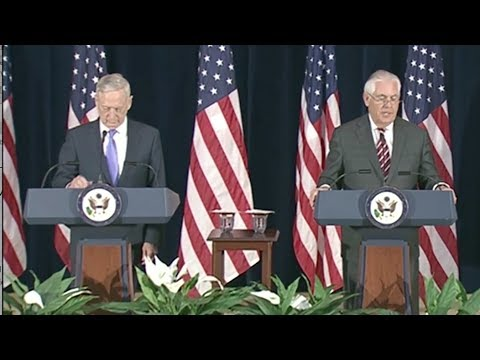 Mattis, Tillerson Seem To Contradict Trump On China - Full News Conference