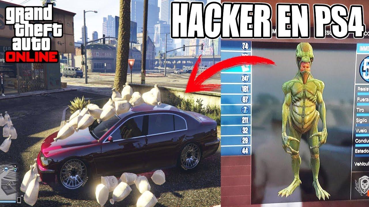 ENCONTRÉ EL PRIMER HACKER DE PS4 JUGANDO A GTA 5 ONLINE! MIRA LO QUE PASÓ!