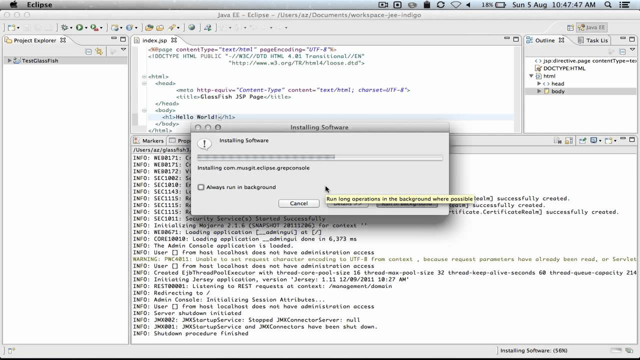 Eclipse Grep Console Plugin