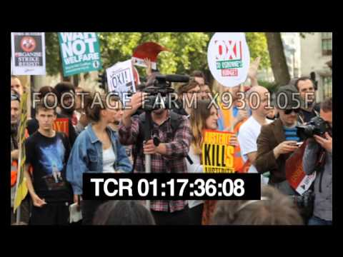 Austerity Protests London X930105F Pt1/3 | Footage Farm