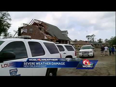Look at the immense damage left behind by tornado in Sherwood Forest neighborhood