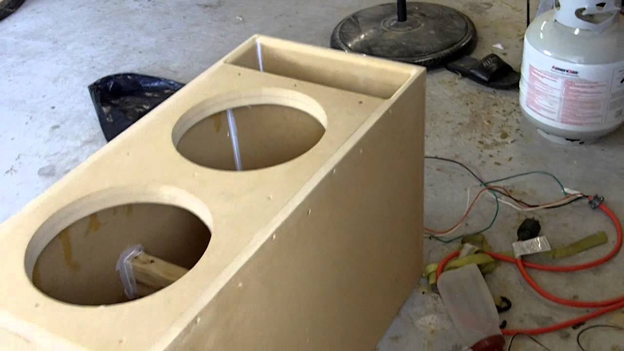 Pearland customz custom subwoofer box for 2 12 inch for L ported sub box design