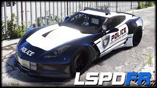 gta 5 lspd fr 74 ger 2k hot pursuit chevrolet corvette c7r deutsch grand theft auto 5 lspdfr