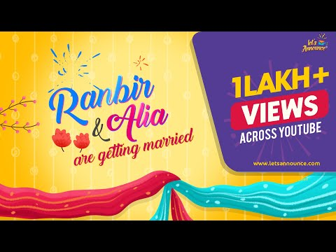 Best Quirky Indian Wedding Invitation Video | Save The Date Digital ECard By Let's Announce