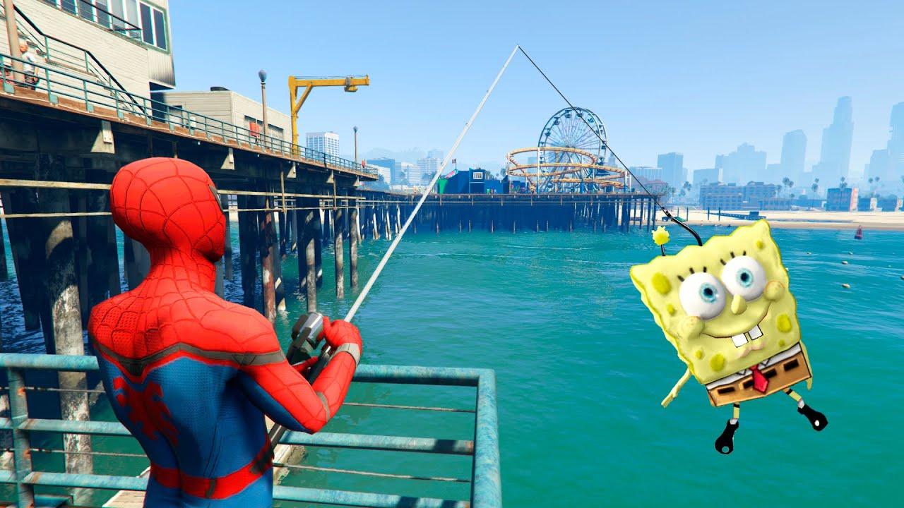 GTA 5 Spiderman vs Spongebob Funny Crazy ragdolls vol.1 (Euphoria physics)