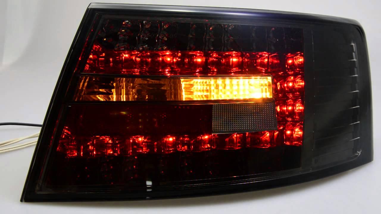 led r ckleuchten audi a6 typ 4f smoke limousine sw tuning. Black Bedroom Furniture Sets. Home Design Ideas