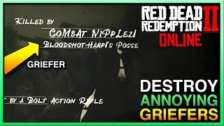 HOW TO STOP ANNOYING GRIEFERS in Red Dead Redemption 2 Online! STOP RDR2 Online Griefers Now! RDR2