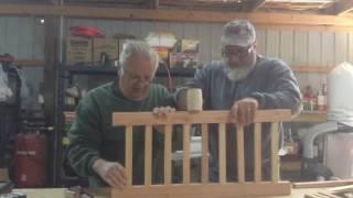 Making the cradle-details