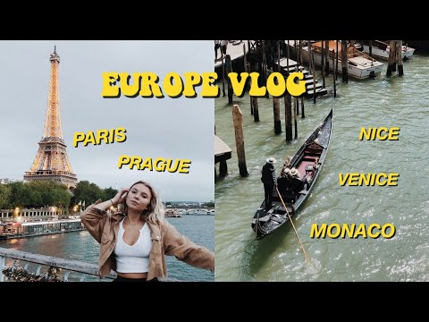 TRAVELING EUROPE BY BUS! (ON A BUDGET) PARIS, PRAGUE, VENICE, NICE & MONACO🌍 thumbnail