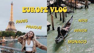 TRAVELING EUROPE BY BUS! (ON A BUDGET) PARIS, PRAGUE, VENICE, NICE & MONACO🌍