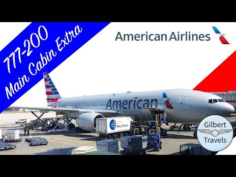 American Airlines Economy 777-200 Main Cabin Extra Flight Review Miami To New York JFK