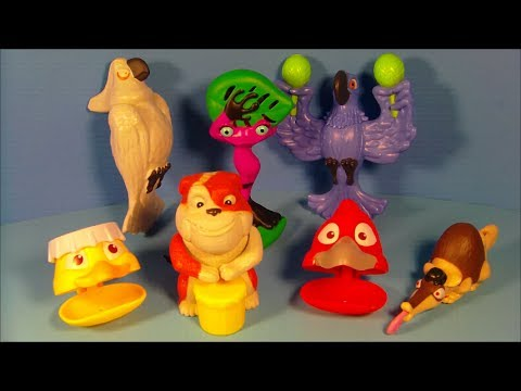 2014 BLUE SKY'S RIO 2 SET OF 6 BURGER KING KID'S MEAL MOVIE TOY'S VIDEO REVIEW