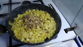 Штрудель с айвой, яблоками из лаваша, очень быстрый рецепт!!!