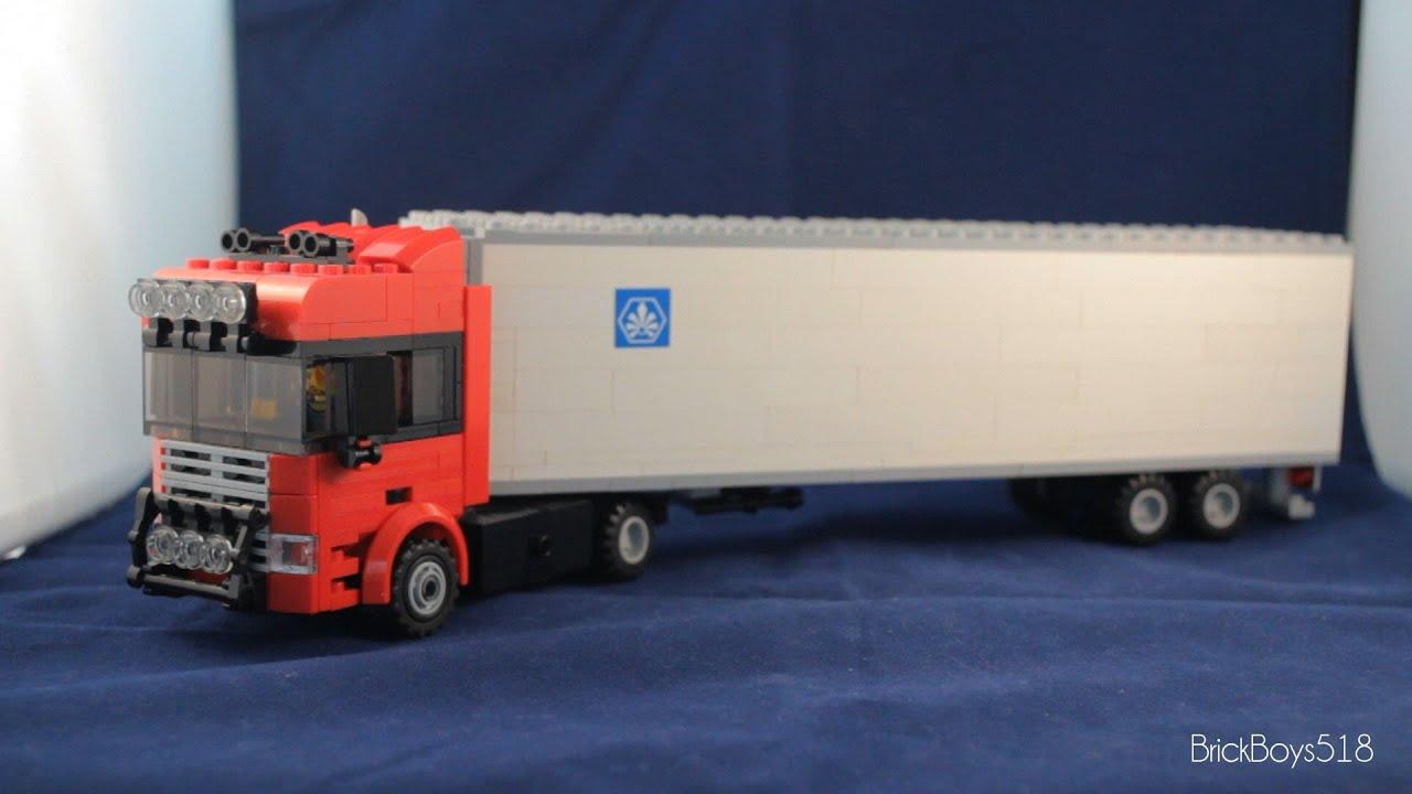 Lego Tractor Trailer : Custom lego vehicle tractor trailer truck instructions