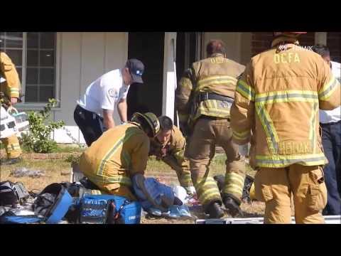 Buena Park fire victim rescued