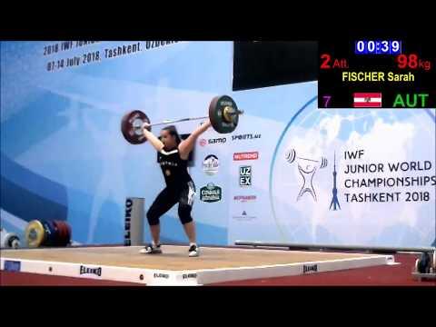 Sarah Fischer - Reißen 96/98/100x - 2018 IWF Junior World Championships
