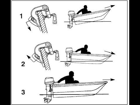 Установить лодочный мотор на транец