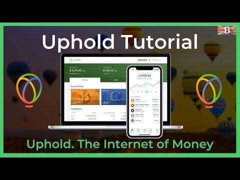 Uphold Crypto Wallet \u0026 Exchange Full Tutorial