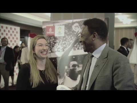 Pelé meets his ultimate fan in Dubai | Football | Emirates Airline