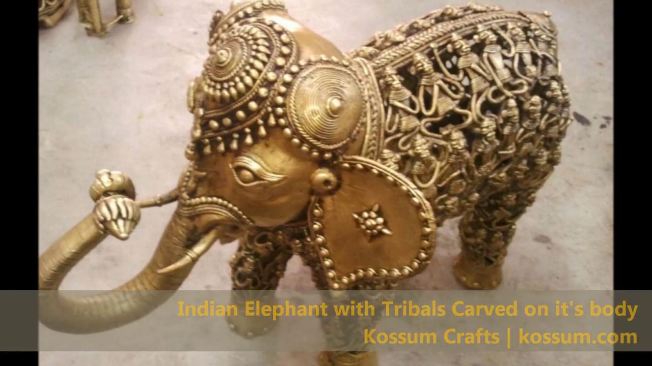 Dhokra Handicrafts Indian Tribal Art Craft Form Youtube