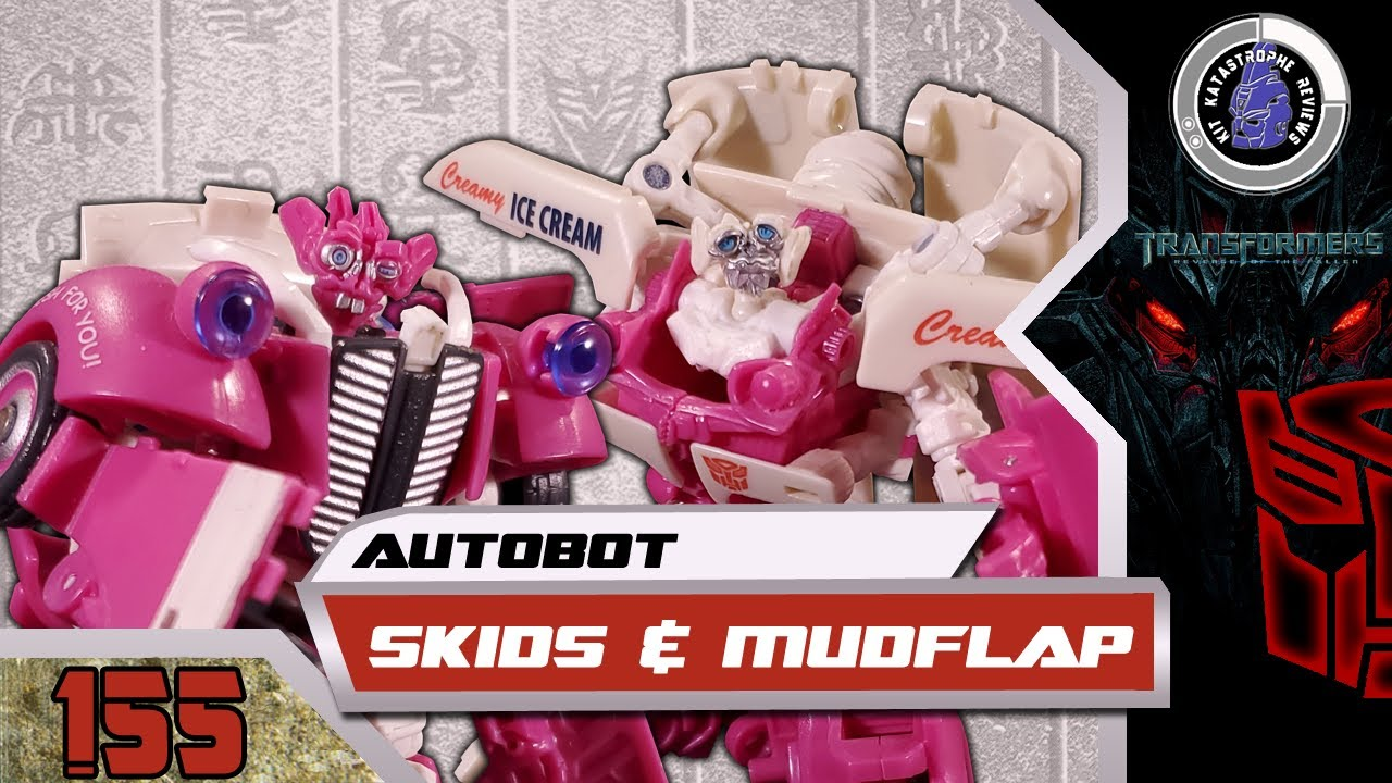 Transformers Revenge of the Fallen Skids & Mudflap Review By Kit Katastrophe