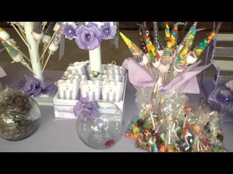 Mesa de dulces para boda como quedo.