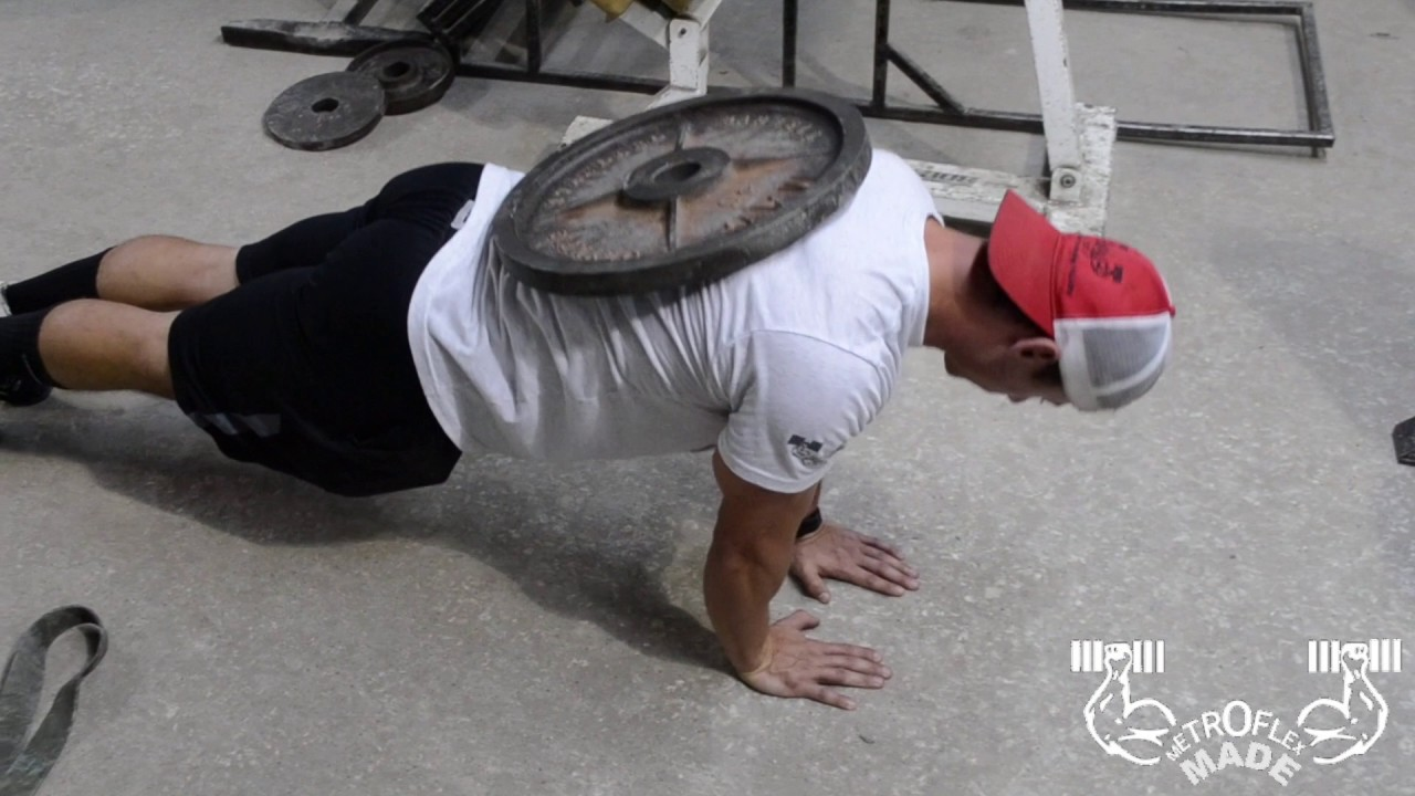 Close Grip Weighted Push-Up