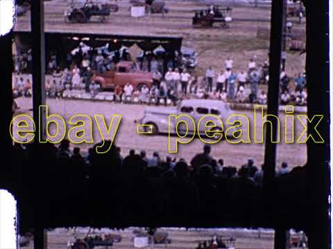 Vintage 1960s 8mm Film Home Movie - ANTIQUE TRACTOR PULL / FARM EQUIPMENT FAIR