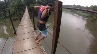 Suspension Bridge jumping: Kitulgala