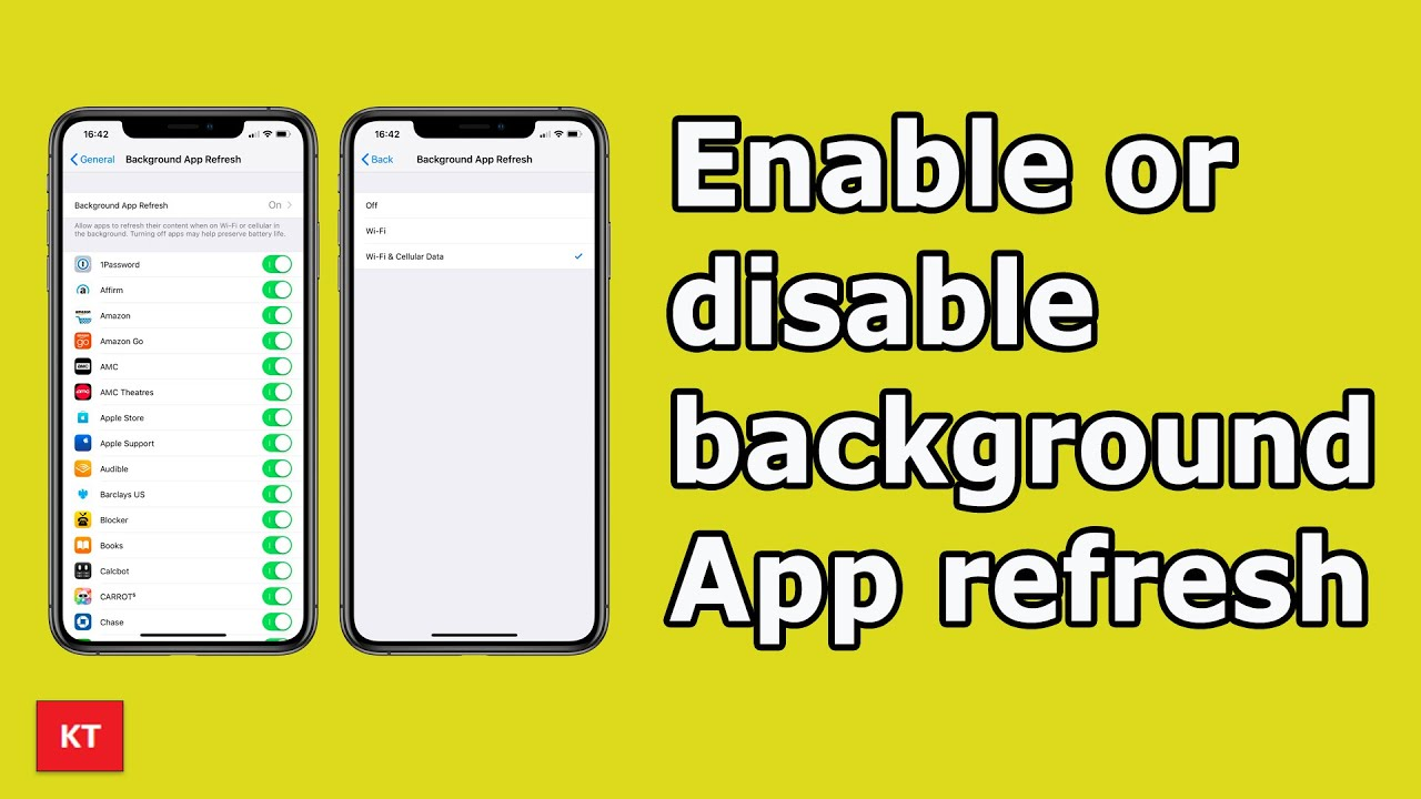 How To Turn On Or Turn Off Background App Refresh Youtube
