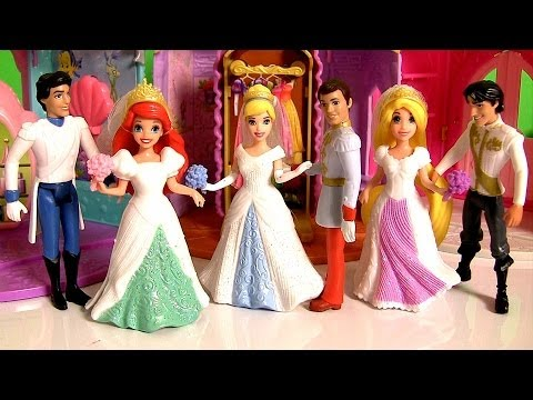 magiclip-fairytale-wedding-dolls-disney-princess-rapunzel-cinderella-ariel-using-play-doh