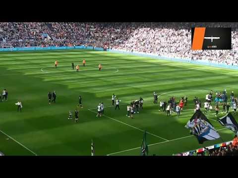 Newcastle United's end of season lap of honour