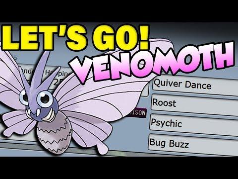 Pokemon Let's Go Venomoth Moveset! Is Venomoth OP?