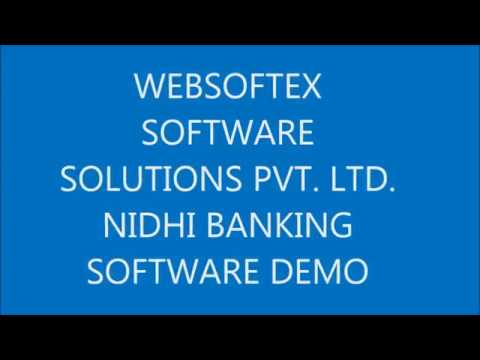 NIDHI BANKING SOFTWARE DEMO branch panel from WEBSOFTEX SOFTWARE SOLUTIONS