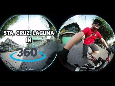 Biking in Sta. Cruz, Laguna in 360 degree (4k)