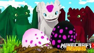 ALPHA LIGHTFURY EGGS ARE HATCHING! - Minecraft Dragons