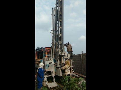 Building in Ghana Part 7 || Borehole Drilling || Plumbing ||