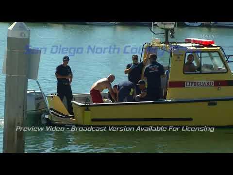 OCEANSIDE: Big Surf Prompts Ocean Rescue Of Man Pinned Against Jetty Rocks 10/7/17