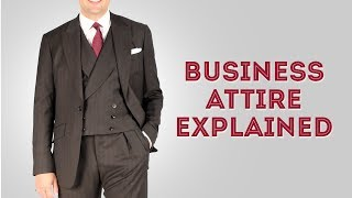 Business Attire Dress Code For Professional Men