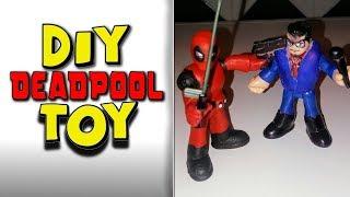 Homemade diy deadpool and clark kent toy