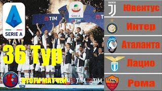 36 тур Серия А Чемпионат Италии 2019 2020 Итоги сыгранных матчей Ювентус стал в 9 й раз Чемпионом
