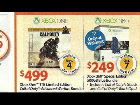 Walmart Edition Xbox 360 and Advance Warfare Xbox One + 1 TB