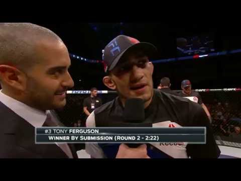 Fight Night Sioux Falls: Tony Ferguson Octagon Interview