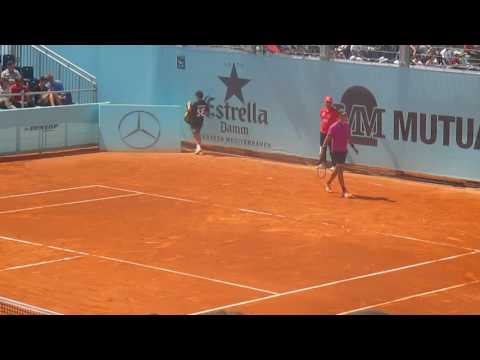 Borna Coric vs Mischa Zverev 2nd set tie-break Madrid Open 2017