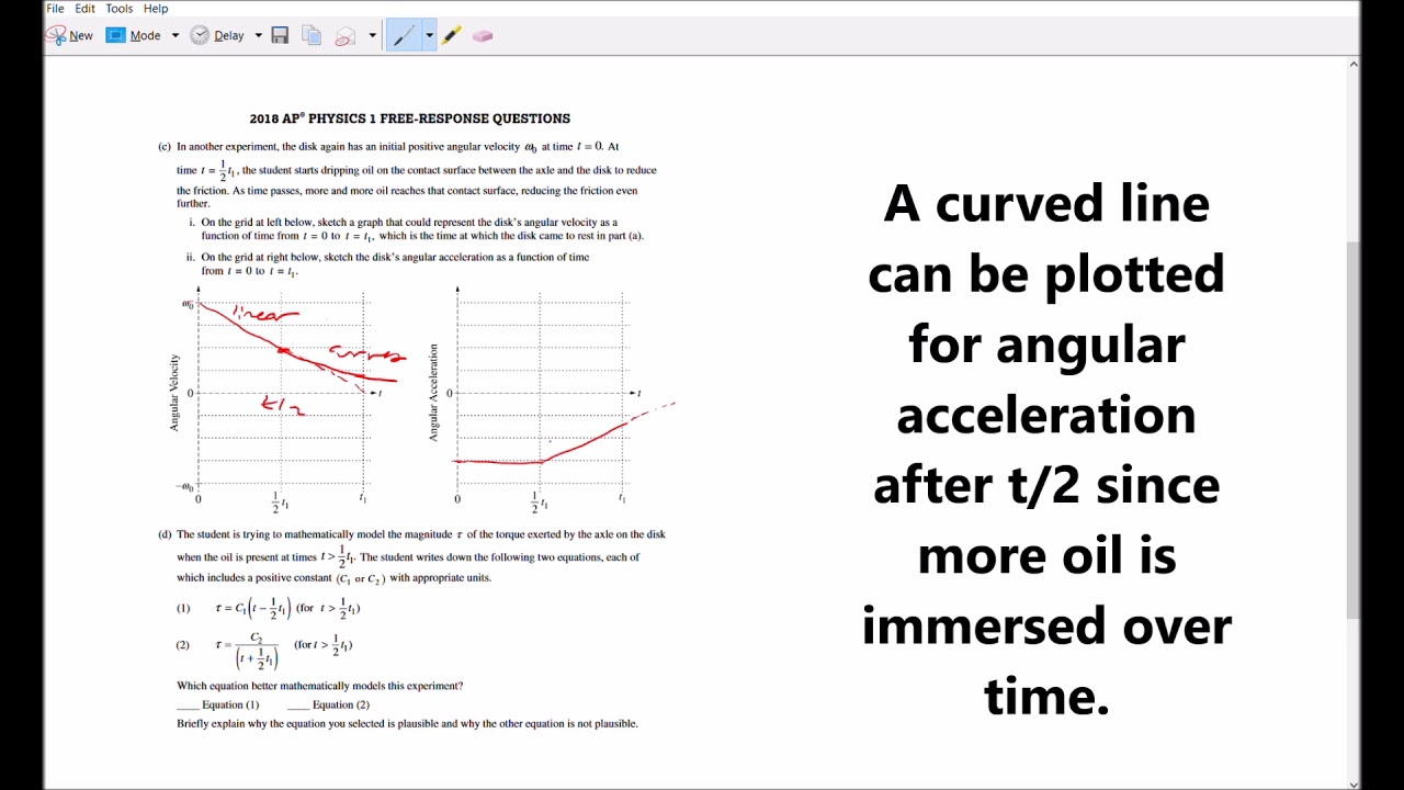 2018 AP Physics 1 Free Response Solutions & Answers #3