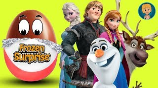 KINDER EGGS Play-Doh Frozen Elsa And Anna 5 - Olaf Frozen in Surprise Eggs