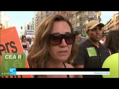 مظاهرات في مدريد تطالب الحكومة باستقبال لاجئين  - 12:21-2017 / 6 / 19