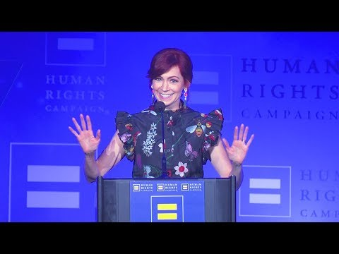 Carrie Preston Receives the HRC Ally For Equality Award