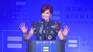 Video Carrie Preston Receives the HRC Ally For Equality Award download MP3, 3GP, MP4, WEBM, AVI, FLV November 2017