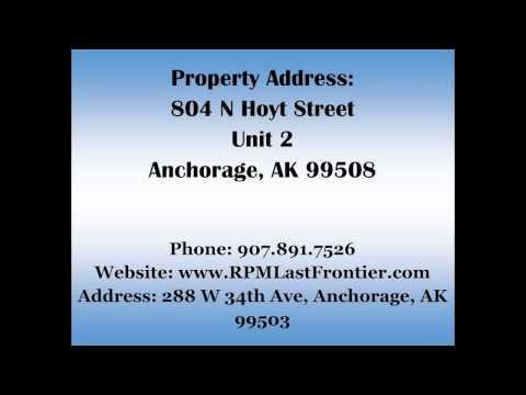 804 N Hoyt St Unit 2 Anchorage, AK 99508